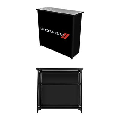 2-Shelf Portable Bar with Carrying Case