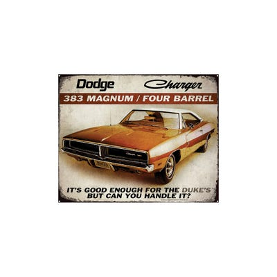 Charger Vintage Tin Sign