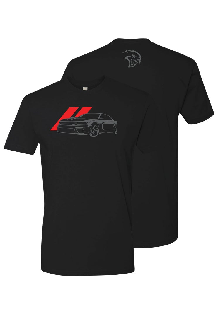 Dodge Men's Wide Body Hellcat Charger T-shirt