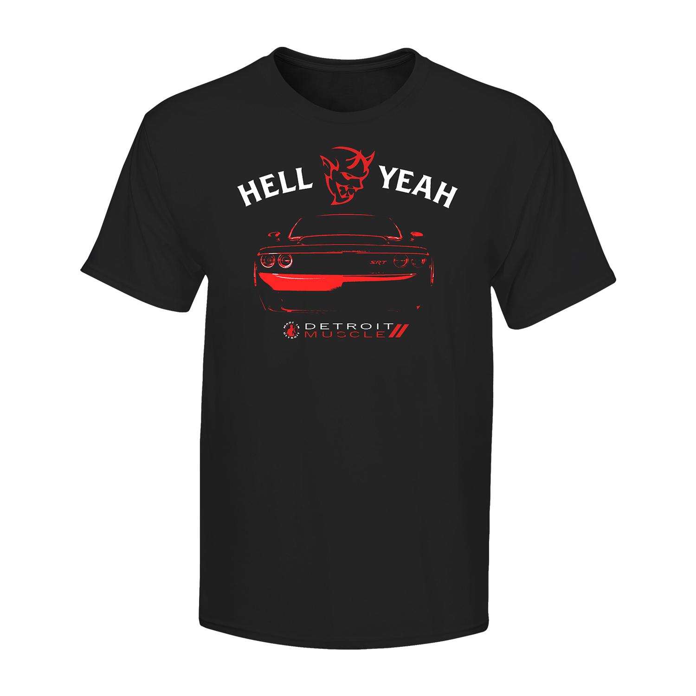 New Dodge Demon Racing Team Logo Men Black T shirt size S to 3XL