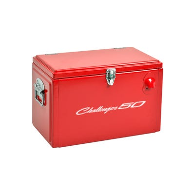 Challenger 50th Anniversary Vintage Metal Tool Box Cooler