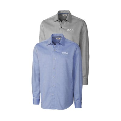 Men's L/S Epic Easy Care Mini Herringbone